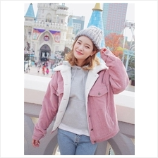 Autumn Winter Women Korean Retro Washed Corduroy Jacket
