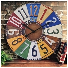 Retro Creative Antique Wall Clock Vintage Style Metal Round Clocks Home Office