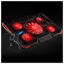 CoolCold 5 Fan LED Laptop Cooler Cooling Pad