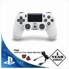 PS4 DUALSHOCK 4 NEW MODEL WITH LIGHT BAR (FREE CHARGING USB CABLE) - WHITE