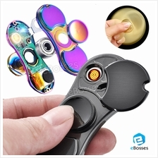 2 in 1 Fidget Spinner USB Electric Lighter EDC High Speed Focus Adult