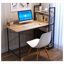 Modern Home Office Ikea Style Desk Table with Shelves 4ft