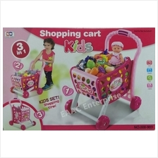 Xiong Cheng Shopping Supermarket Trolley Cart with Grocery Food Toys