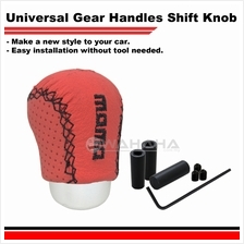 Manual Car Leather Red Universal Shift Knob Car Gear Stick Black 0548