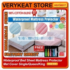 Waterproof Bed Sheet Mattress Protector Mat Cover Single/Queen/King