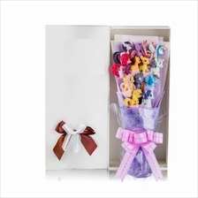12pcs the little pony with gift box /cartoon bouquet free present card