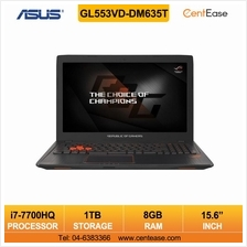 Asus GL553VD-DM635T Laptop i7 15.6inch 4GB 1TB W10