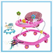 Foldable Adjustable Baby Walker with Music