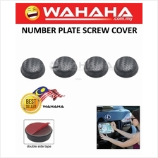 Number Plate Screw Bolt Caps Covers for Car 4pcs