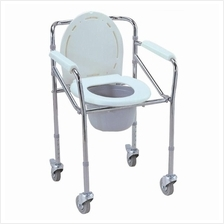 ESCO MOBILE SHOWER COMMODE CHAIR (WITH WHEELS) COM/0518-MB