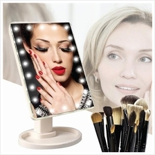 16 LED Travel Mirror Makeup Cosmetic Light Touch Screen Vanity Adjust
