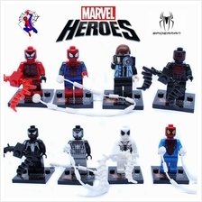 8PCS Spiderman Minifigures Avengers Lego Similar Building Blocks Brick