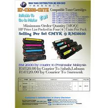 HP CE320 / CE321 / CE322 / CE323 CMYK COMPATIBLE TONER CARTRIDGES