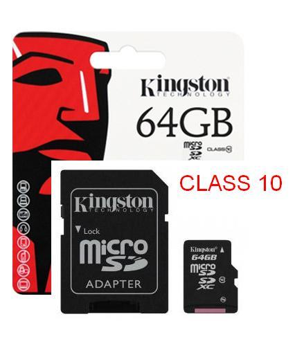 kingston 64gb microsd card class 10 end 4 16 2016 11 20 pm. Black Bedroom Furniture Sets. Home Design Ideas